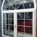DRIA FENÊTRES_fenêtre plein cintre en PVC blanc triple vitrage
