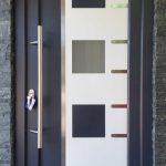 DRIA FENÊTRES_porte d'entrée en PVC gris anthracite