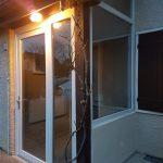 DRIA FENÊTRES_porte vitrée tiercée en PVC blanc